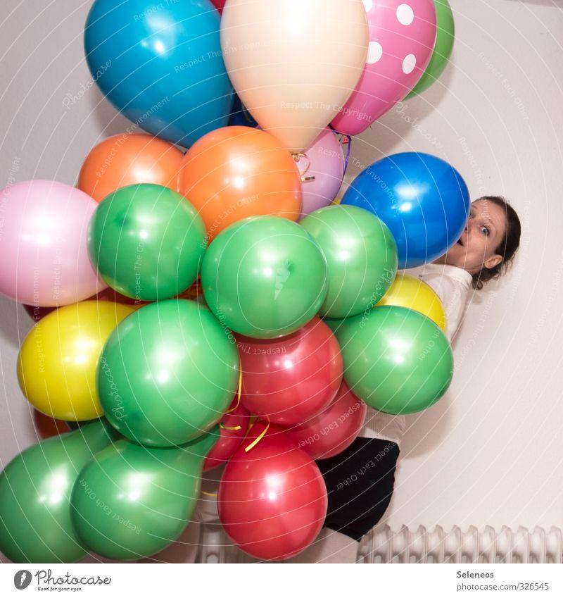 Happy Birthday Photocase Mensch Freude Gesicht feminin Feste & Feiern Party Zufriedenheit Geburtstag Fröhlichkeit Luftballon Euphorie Vorfreude Frühlingsgefühle