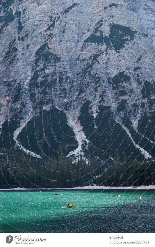 Rumpaddeln Freizeit & Hobby Ferien & Urlaub & Reisen Tourismus Ausflug Abenteuer Ferne Freiheit Berge u. Gebirge Mensch Natur Landschaft Alpen See