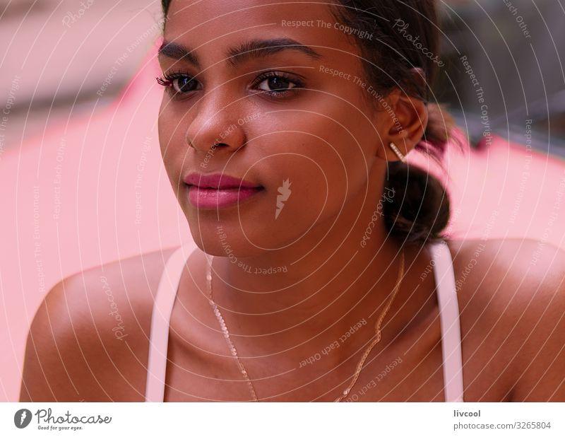 Schönheit Kubanische Frau II - Havanna Lifestyle Glück Leben Insel Mensch feminin Junge Frau Jugendliche Erwachsene Kopf Gesicht Auge Ohr Nase Mund Lippen 1