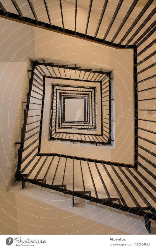 Spiralität Hochhaus Architektur Treppe ästhetisch Zufriedenheit Design elegant geheimnisvoll Horizont Stadt Irritation Wege & Pfade Treppenhaus Farbfoto