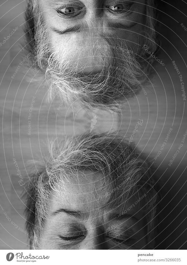 während du schliefst Mensch feminin Frau Erwachsene Weiblicher Senior Paar Gesicht Blick schlafen Doppelgänger Selbstportrait Wachsamkeit geheimnisvoll
