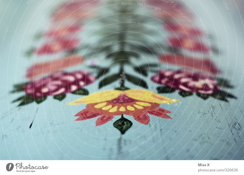 Bauernmalerei Freizeit & Hobby Innenarchitektur Dekoration & Verzierung Kunst Kunstwerk Gemälde mehrfarbig ländlich Blume gemalt malen streichen Restauration