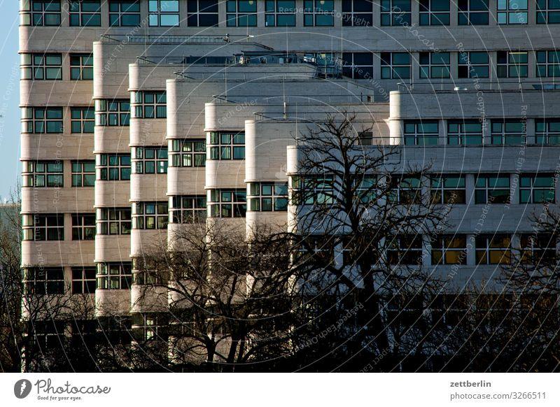 Schellhaus Berlin Architektur Bauhaus Büro Etage Fassade Fenster Gebäude Haus Menschenleer Vorderseite schell haus schellhaus shell haus shellhaus