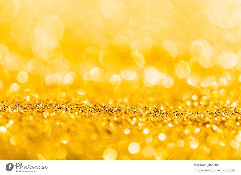 Gold glitter close-up background with shallow depth of field Weihnachten & Advent positiv gold Material Hintergrundbild Brillant glänzend Tiefenschärfe