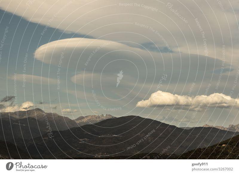 Wolkenformation Ferien & Urlaub & Reisen Ausflug Abenteuer Ferne Freiheit Safari Expedition Umwelt Natur Landschaft Himmel Horizont Sonnenlicht Berge u. Gebirge