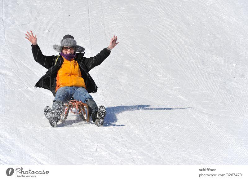 Juhuuu - nur fliegen ist schöner! Freizeit & Hobby Ferien & Urlaub & Reisen Winterurlaub feminin Junge Frau Jugendliche Erwachsene 1 Mensch 18-30 Jahre
