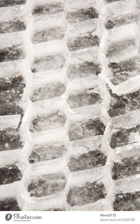Grafisch | Spuren Wasser weiß grau Schneefall Eis Verkehr graphisch zerbrechlich Schneespur Traktorspur