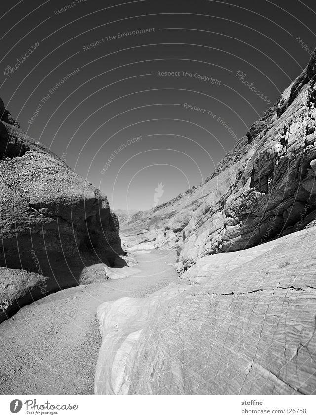 gewunden Felsen Death Valley National Park USA Nevada außergewöhnlich Schlangenlinie Schwarzweißfoto Außenaufnahme Strukturen & Formen Menschenleer