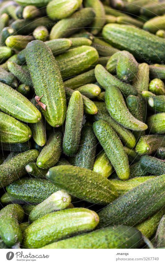 Gurken Lebensmittel Gemüse Gewürzgurke Ernährung Wochenmarkt Bioprodukte frisch Gesundheit viele lecker Farbfoto Außenaufnahme Nahaufnahme Menschenleer