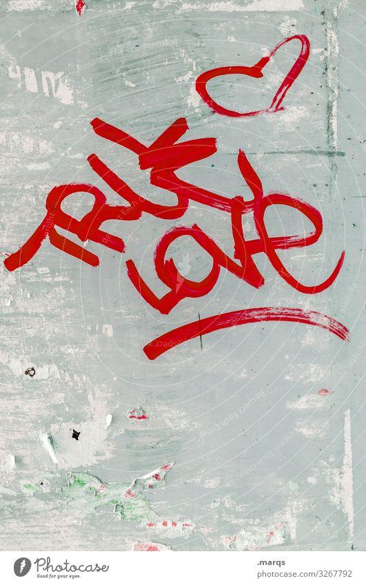 True Love true love Liebe wahre Liebe Herz Graffiti Romantik Wand Schriftzeichen Typographie Verliebtheit Gefühle Kommunikation rot Glück Leben