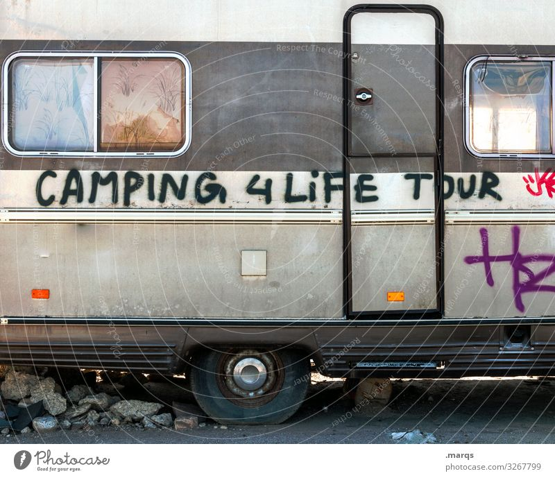 Camper | Geschriebenes Freizeit & Hobby Ferien & Urlaub & Reisen Camping Wohnmobil Wohnwagen Schriftzeichen Graffiti außergewöhnlich Freude Leidenschaft Leben
