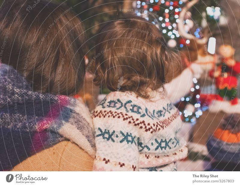 Familien-Weihnachtszeit Lifestyle Reichtum elegant Ferien & Urlaub & Reisen Ausflug Abenteuer Feste & Feiern Weihnachten & Advent Mensch Kind Baby Kleinkind