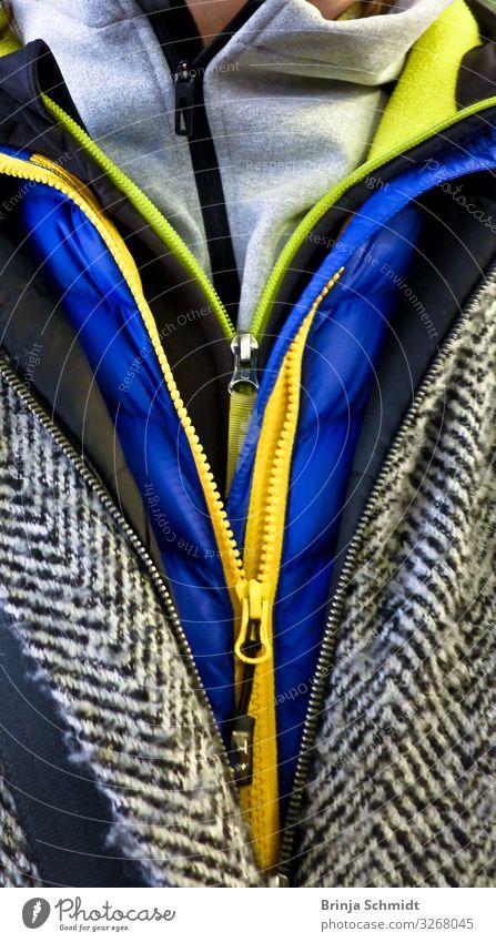 Reißverschlüsse - 4 Jacken über einander kaufen Stil Winter Klima Bekleidung Reißverschluss frieren stehen tragen frech Fröhlichkeit heiß einzigartig kalt