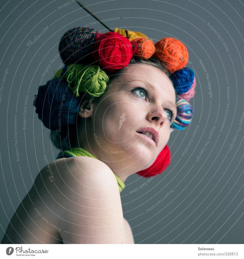 Frau Wolle Mensch Jugendliche nackt 18-30 Jahre Gesicht Erwachsene Auge feminin Haare & Frisuren Kopf Körper Haut Mund Nase Schnur