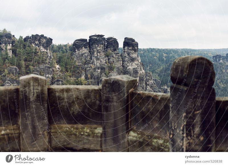Gegenüber Natur Ferien & Urlaub & Reisen Landschaft ruhig Ferne Wald Umwelt Berge u. Gebirge Wand Wege & Pfade Mauer Freiheit Horizont Felsen Idylle Tourismus