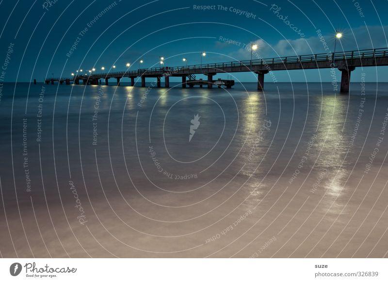 Keine Luft von keiner Seite Ferien & Urlaub & Reisen Meer Schnee Umwelt Natur Landschaft Wasser Himmel Horizont Klima Wetter Küste Strand Ostsee Brücke