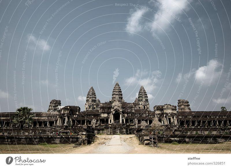 Angkor Wat, Hintereingang Siem Reap Angkor Thom Kambodscha Asien Südostasien Ruine Sehenswürdigkeit ästhetisch außergewöhnlich Bekanntheit Tempel Kloster