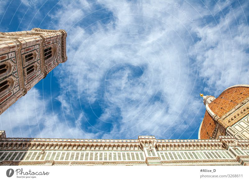 Kathedrale Santa Maria del Fiore Florenz Ferien & Urlaub & Reisen Tourismus Sightseeing Städtereise Kunst Architektur Italien Europa Stadt Hauptstadt Kirche Dom