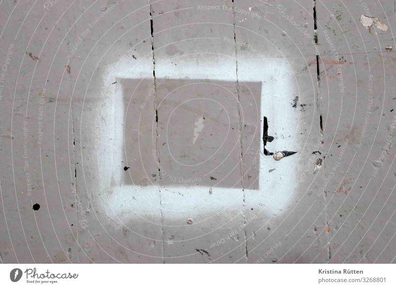 sprührahmen Freizeit & Hobby Basteln Modellbau Anstreicher Arbeitsplatz Medienbranche Werbebranche Baustelle Kunst Maler Kunstwerk Gemälde Holz eckig grau