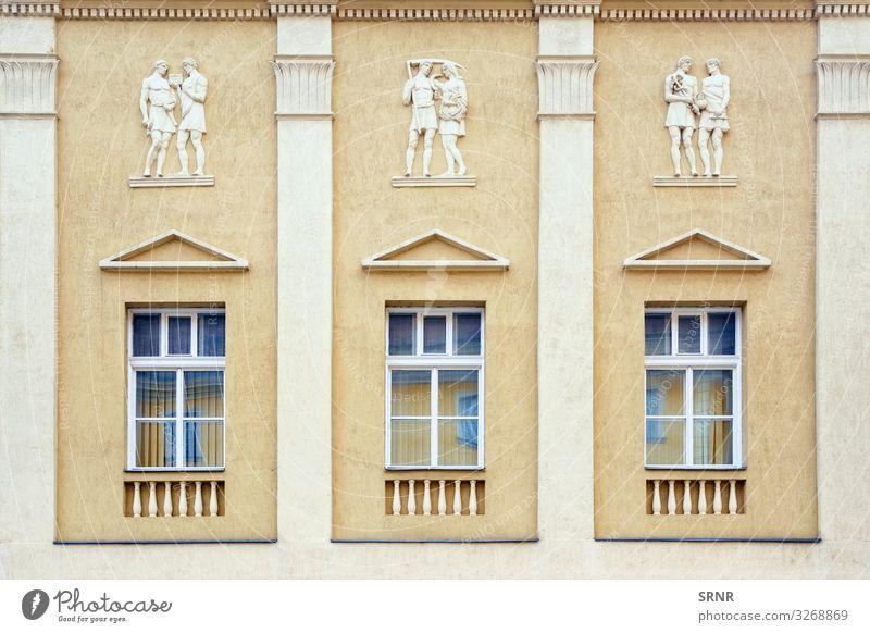 Fassade Wohnung Haus Mann Erwachsene Gebäude Architektur alt Bas Relief basse-taille zugeklappt Spalte Konstruktion Außenseite Laubsägearbeiten Wohnen heimwärts