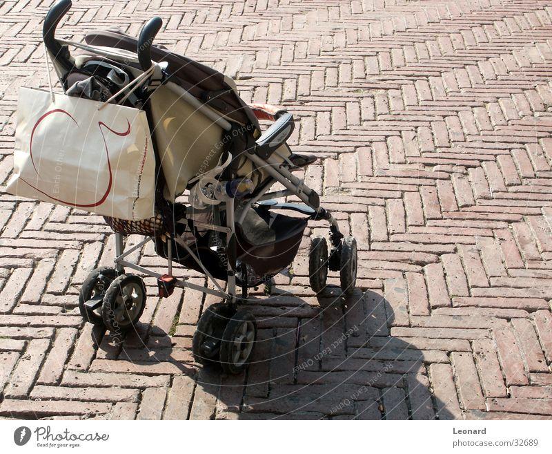 Stroller Sonne Baby Bodenbelag Dinge Backstein Börse Beutel