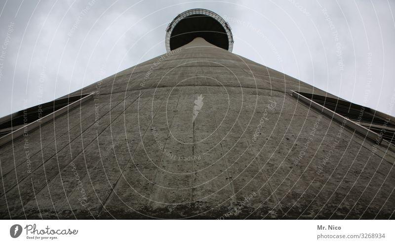 Betonklotz Stadt Bauwerk Gebäude Architektur Sehenswürdigkeit Wahrzeichen Colonius - Fernsehturm grau Köln groß Arbeitsplatz hoch aufschauend Koloss