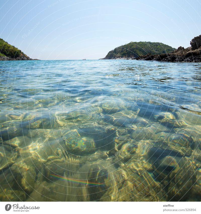 aus aktuellerem Anlass Ferien & Urlaub & Reisen Meer Strand Wärme Schwimmen & Baden Stein Schönes Wetter Hügel Asien Bucht Thailand Phuket Südostasien