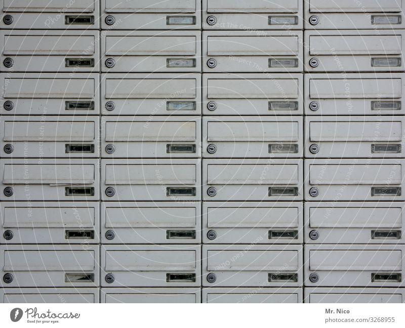 Briefkastenfirma Stadt Stadtzentrum Hochhaus Häusliches Leben Stadthaus Mieter anonym unerkannt viele Post Ordnung abschließbar einwerfen unpersönlich Adressat
