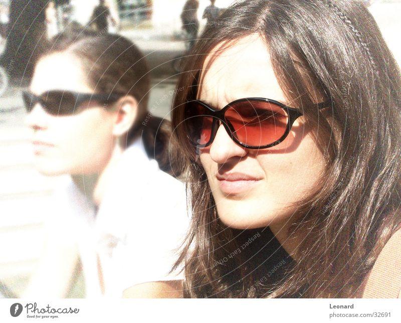 Mädchen Frau Mensch Sonne Gesicht Brille