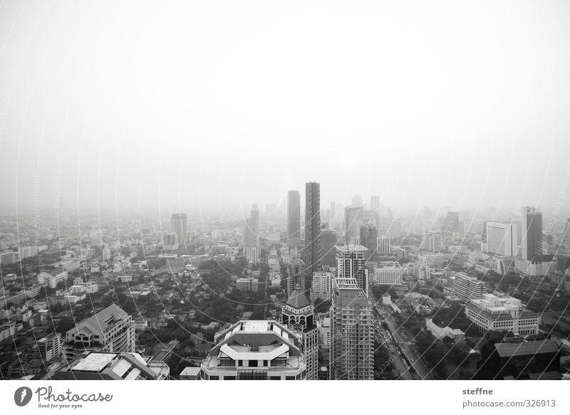 Bangkok, Condor View Stadt Haus Hochhaus Asien Wolkenloser Himmel Skyline Stadtzentrum Hauptstadt Thailand Smog überbevölkert Südostasien