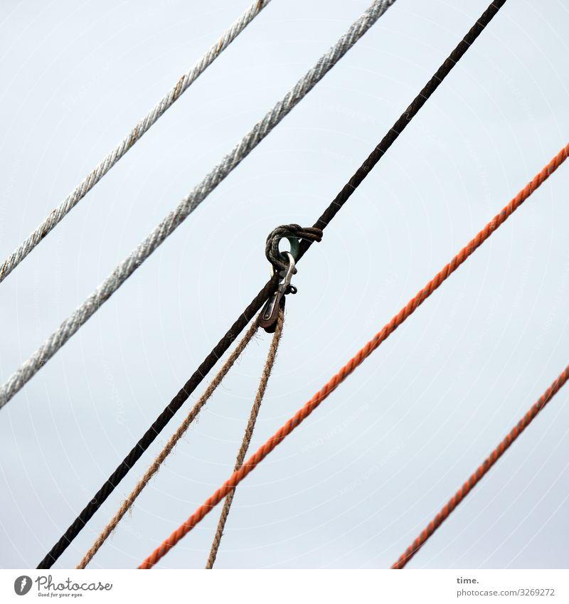Seilschaften (I) Linie Kommunizieren ästhetisch Kreativität planen Zusammenhalt Netzwerk Schifffahrt Partnerschaft Stress Konzentration Dienstleistungsgewerbe