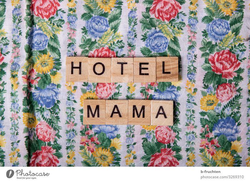 hotel mama Lifestyle kaufen Stil Freizeit & Hobby Holz Schriftzeichen genießen Häusliches Leben Freundlichkeit mehrfarbig Mutter Hotel retro Buchstaben Scrabble