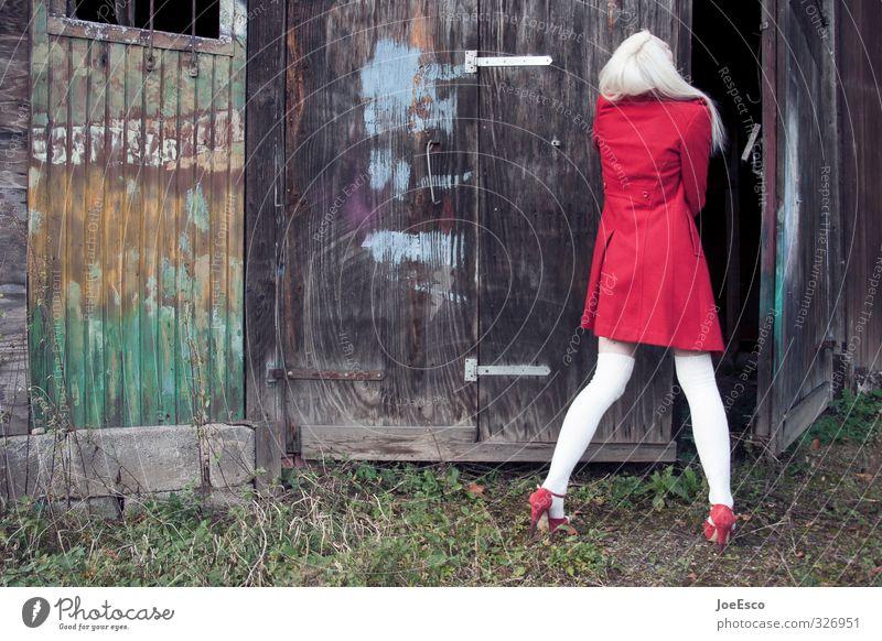 #326951 Mensch Frau Jugendliche Ferien & Urlaub & Reisen schön Erwachsene 18-30 Jahre Stil natürlich Mode Wohnung Tür blond Lifestyle geschlossen Beginn