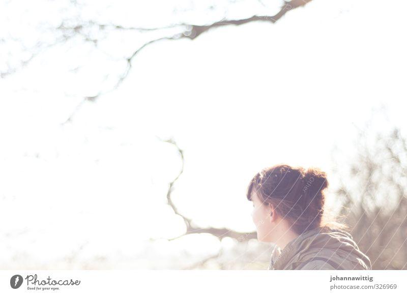was übermorgen sein wird Mensch Himmel Jugendliche Sommer Sonne Baum ruhig Junge Frau Wald Erwachsene Umwelt Leben 18-30 Jahre feminin Frühling Haare & Frisuren