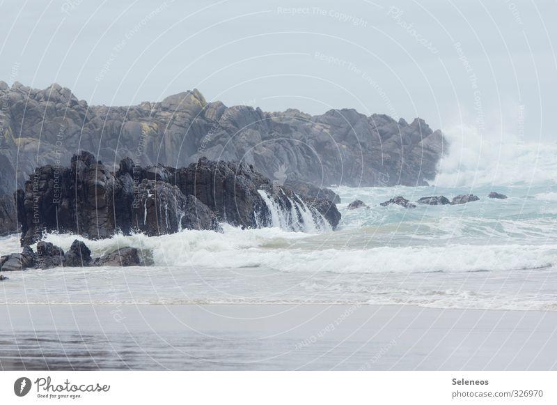 Meeresrauschen Himmel Natur Ferien & Urlaub & Reisen Wasser Landschaft Strand Ferne Umwelt Freiheit natürlich Felsen Wellen Tourismus frisch nass
