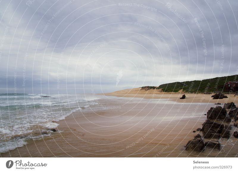 Meeresschaum Ferien & Urlaub & Reisen Tourismus Ausflug Ferne Freiheit Umwelt Natur Landschaft Himmel Wolken Wellen Küste Strand Bucht Sehnsucht Fernweh