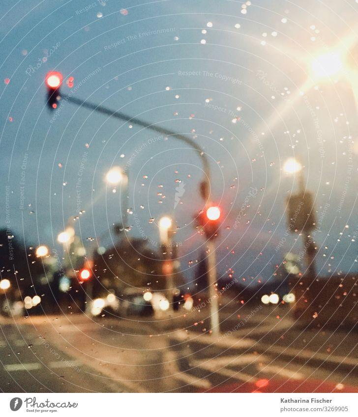 City FFM blau Stadt weiß rot schwarz Straße Wege & Pfade rosa PKW leuchten Straßenbeleuchtung Stadtzentrum türkis Verkehrswege Fahrzeug silber