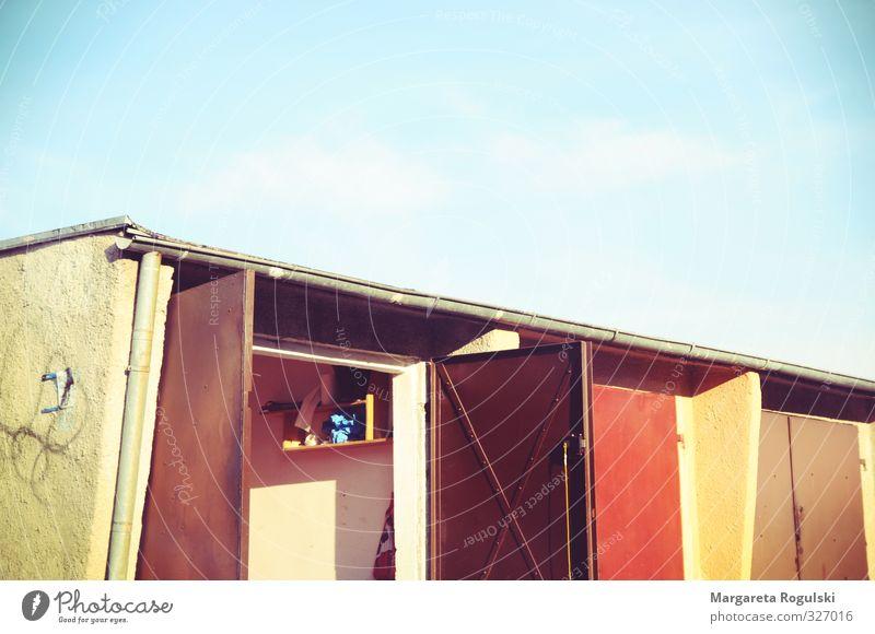 Garage Freizeit & Hobby Häusliches Leben Wohnung Haus Umzug (Wohnungswechsel) bauen PKW Autowerkstatt mehrfarbig Farbfoto Außenaufnahme