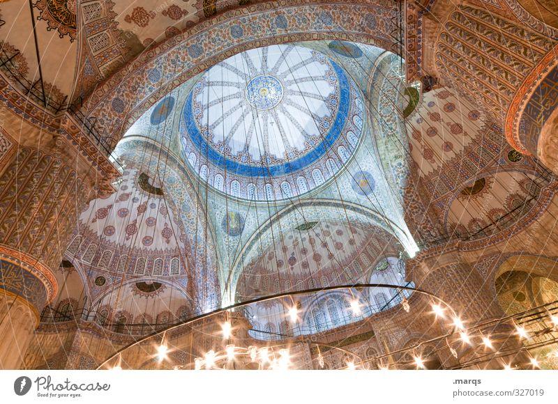 Kuppel Ferien & Urlaub & Reisen Tourismus Sightseeing Städtereise Kultur Istanbul Türkei Bauwerk Gebäude Architektur Moschee Blaue Moschee Sehenswürdigkeit