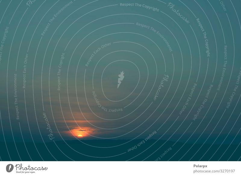 Sonnenaufgang über baumbestandenen Hügeln schön ruhig Ferien & Urlaub & Reisen Abenteuer Berge u. Gebirge Natur Landschaft Himmel Wolken Horizont Blatt Gipfel