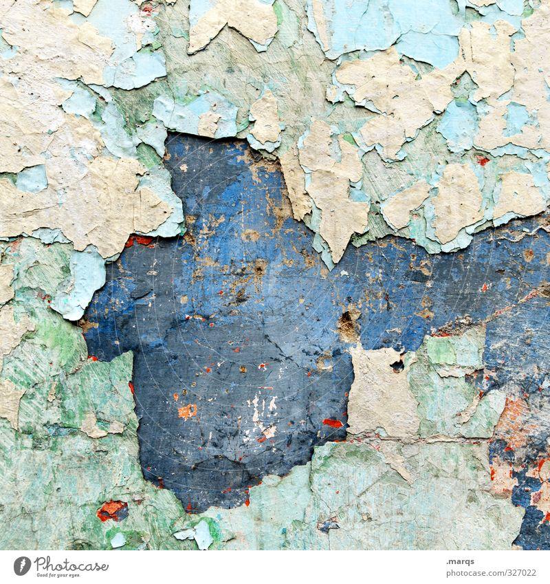Putz Stil Design Mauer Wand Fassade Putzfassade alt einzigartig kaputt schön Farbe Vergangenheit Vergänglichkeit Hintergrundbild Farbfoto mehrfarbig