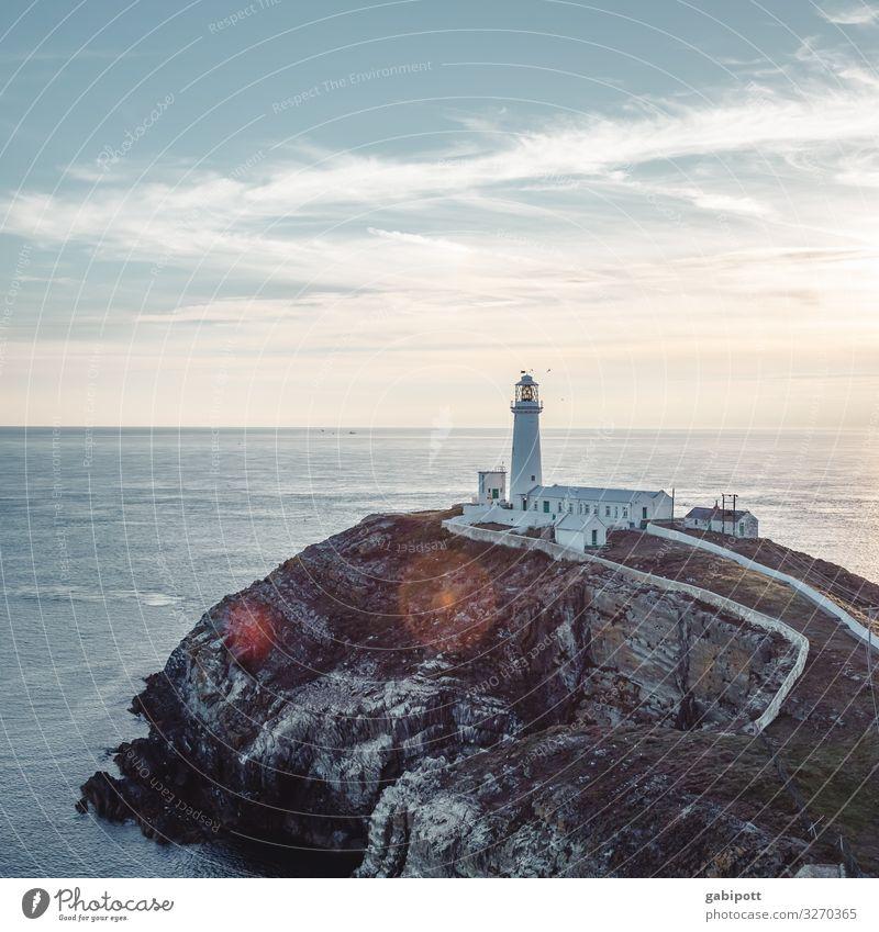 South Stack Lighthouse Ferien & Urlaub & Reisen Tourismus Ausflug Abenteuer Ferne Freiheit Sommer Sommerurlaub Strand Meer Insel Schifffahrt Leuchtturm leuchten