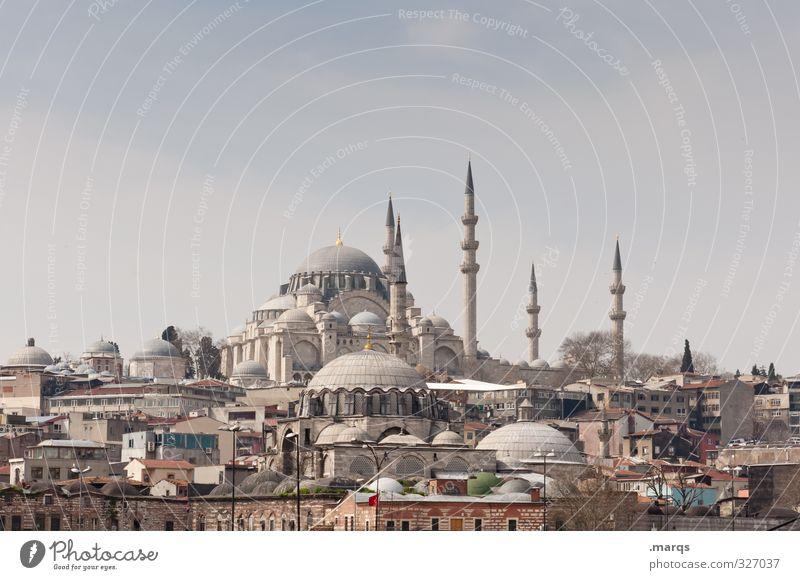 Süleymaniye Ferien & Urlaub & Reisen Sightseeing Städtereise Kultur Himmel Schönes Wetter Istanbul Türkei Stadtzentrum Haus schön Minarett