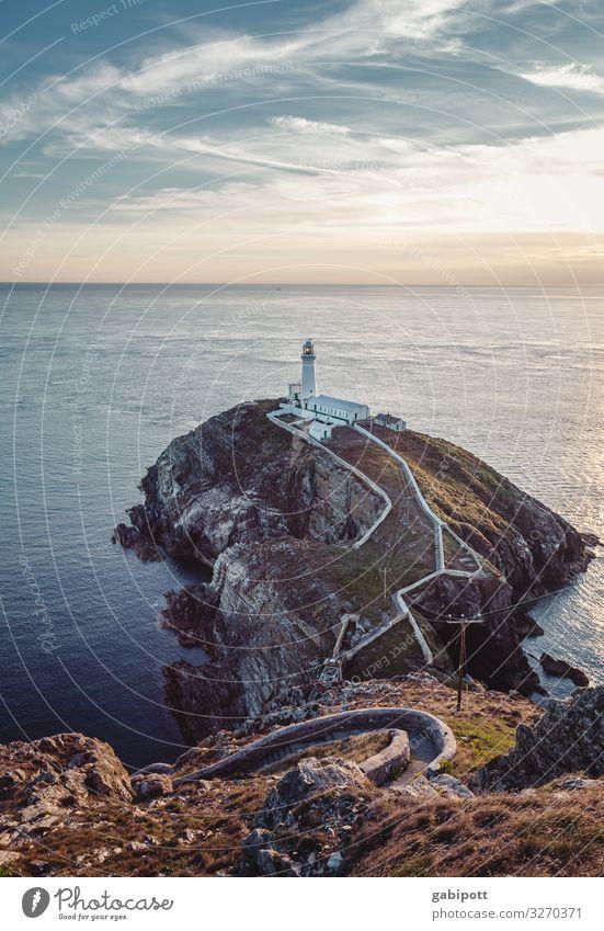 South Stack-Leuchtturm Panorama (Aussicht) Ferien & Urlaub & Reisen Ausflug Tourismus Ferne leuchten Meer Schifffahrt Insel Sommer Strand Freiheit Unendlichkeit