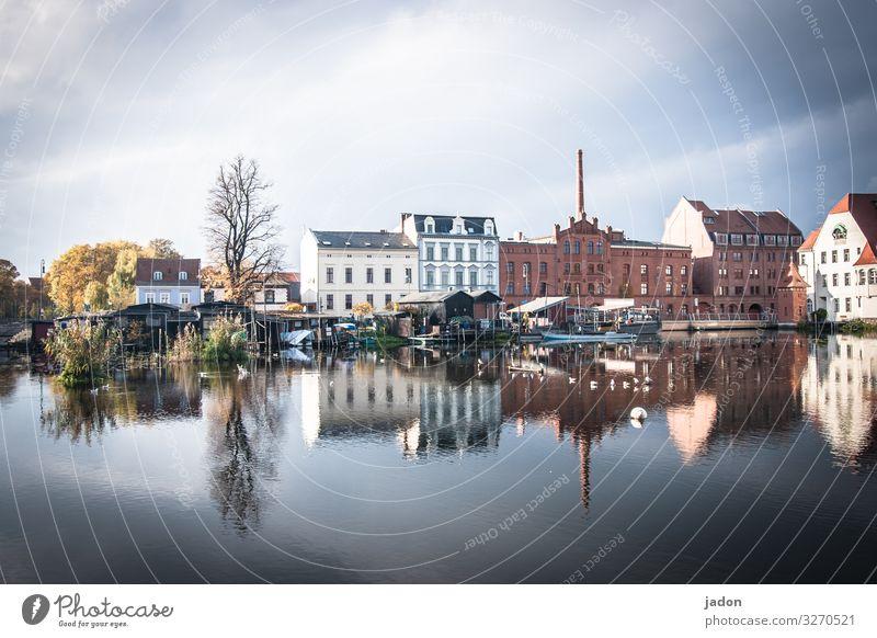 die stadt im fluss (5). Lifestyle elegant Stil Tourismus Sightseeing Natur Wasser Himmel Schönes Wetter Baum Flussufer Bucht Brandenburg an der Havel