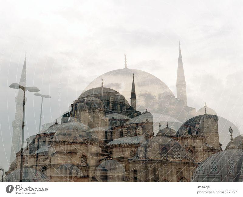 Istanbul Ferien & Urlaub & Reisen Tourismus Kultur Himmel Wolken Türkei Bauwerk Gebäude Architektur Moschee Sehenswürdigkeit außergewöhnlich einzigartig