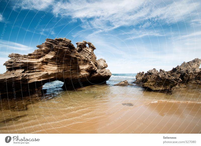 The Stones Himmel Natur Ferien & Urlaub & Reisen Sommer Sonne Meer Erholung Landschaft Wolken Ferne Strand Umwelt Reisefotografie Küste Freiheit natürlich