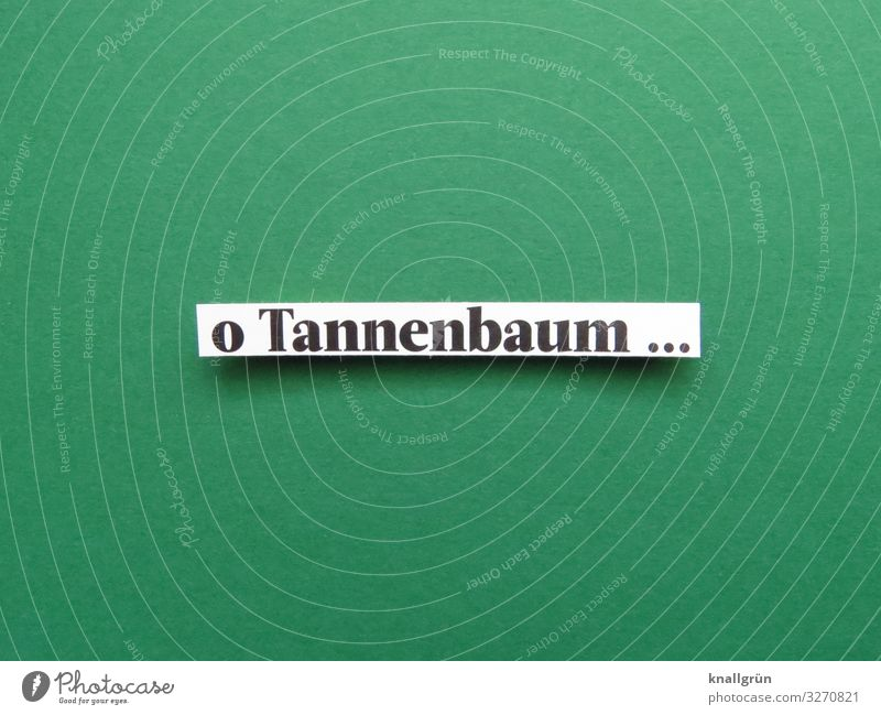 o Tannenbaum ... Schriftzeichen Schilder & Markierungen Kommunizieren grün schwarz weiß Gefühle Stimmung Freude Zusammensein Neugier Erwartung Tradition