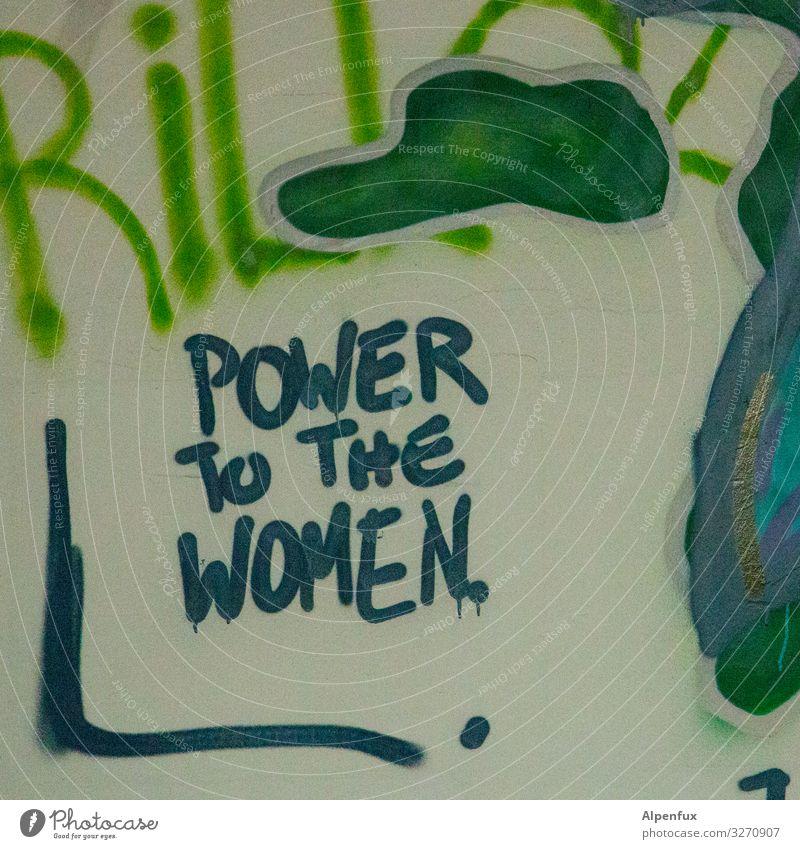 Power To The Women | UT Zeichen Schriftzeichen Graffiti mehrfarbig selbstbewußt Optimismus Erfolg Kraft Willensstärke Mut Tatkraft Akzeptanz Einigkeit