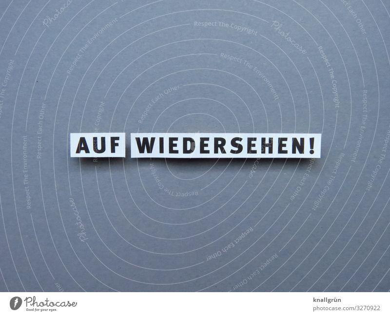 Auf wiedersehen Verabschiedung Gruß Wiedersehen Kommunizieren Abschied Kommunikation Sprache Buchstaben Wort Satz Typographie Text Mitteilung Verständigung
